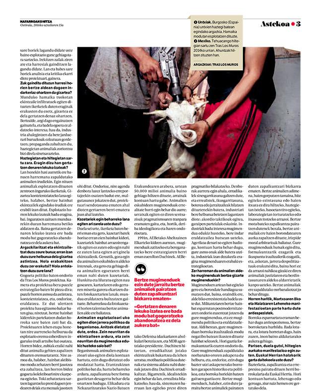 Nafarroako hitza entrevista Tras los muros
